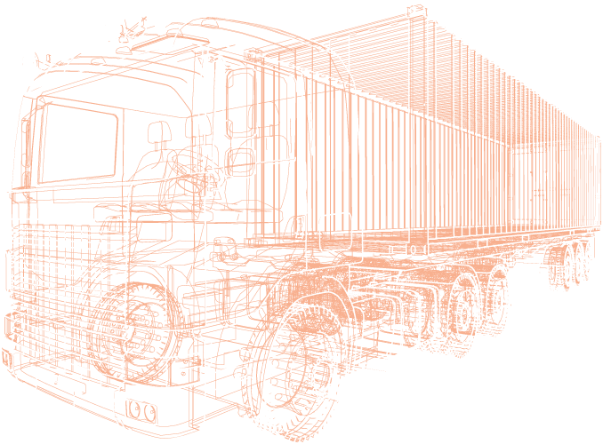 Camion Wireframe rosso 5