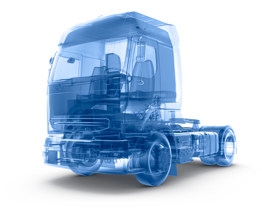Camion Wireframe Trasparente